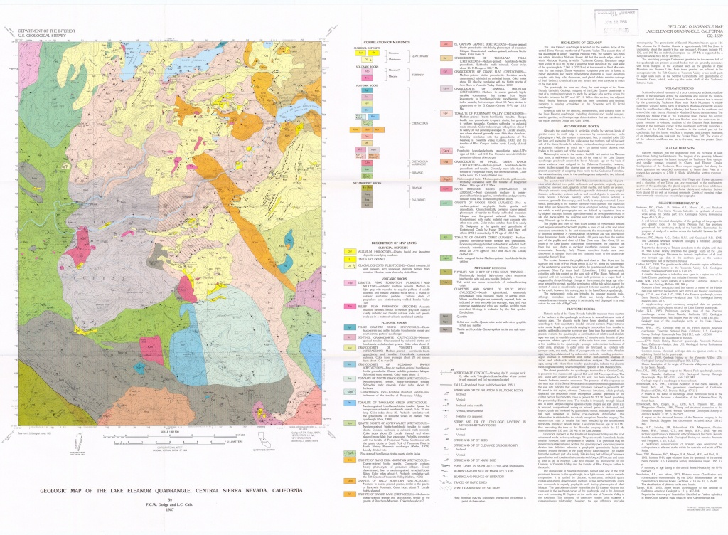 Wmrc Geology Maps - Lone Pine California Map