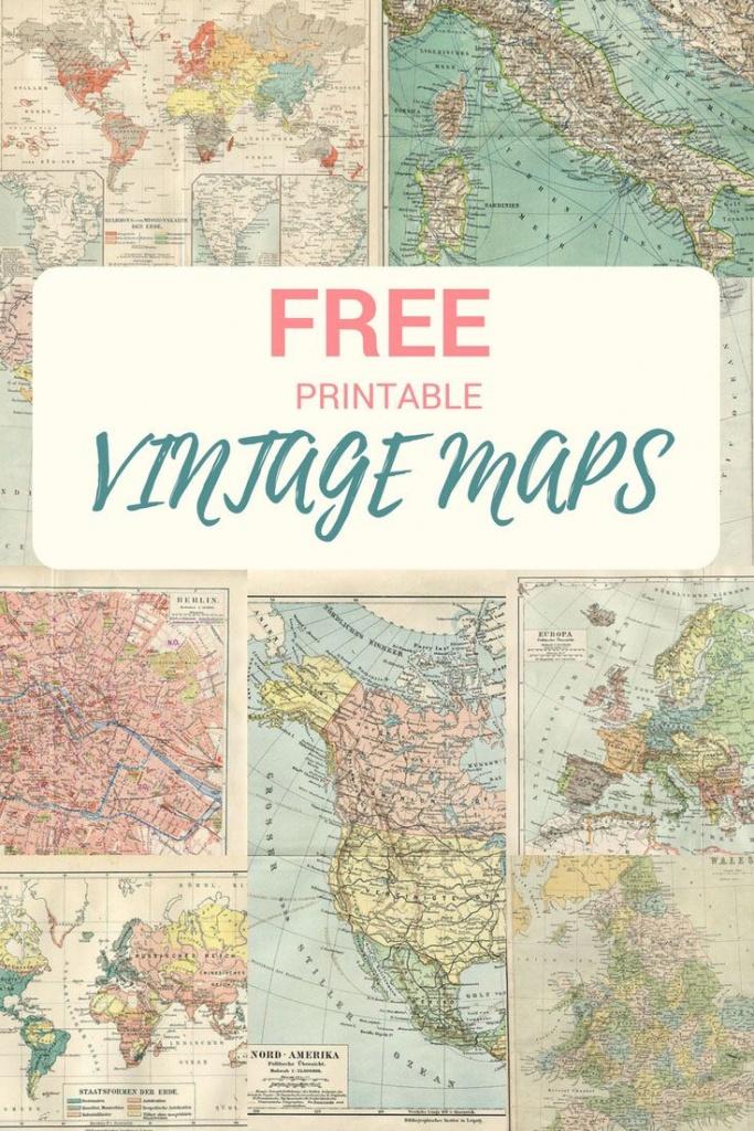 Wonderful Free Printable Vintage Maps To Download   Papercrafts - Free Printable Vintage Maps