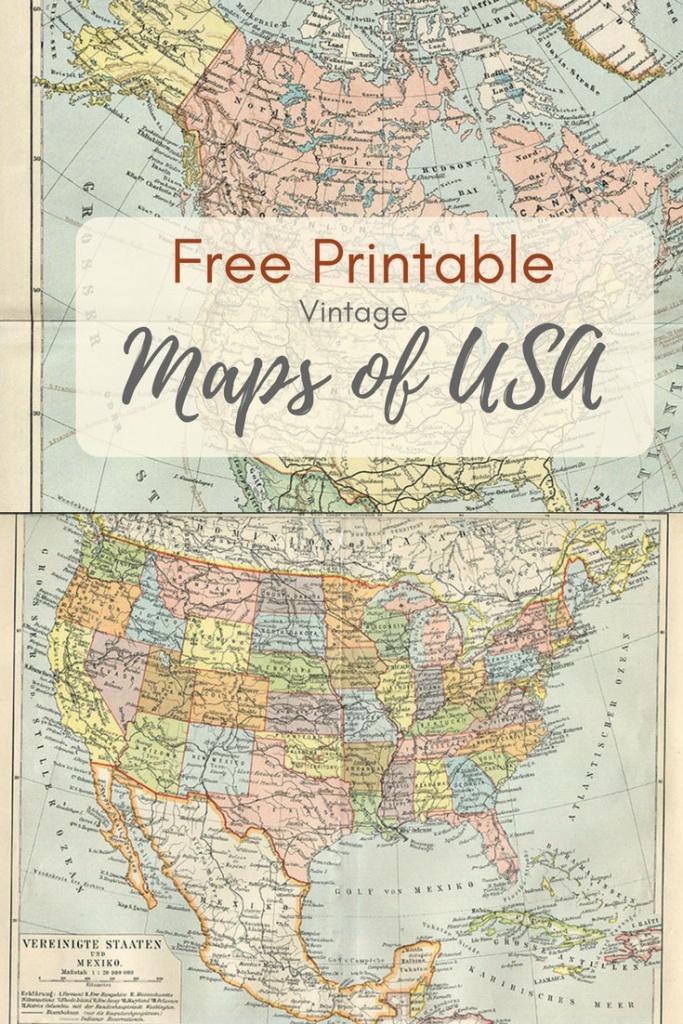Wonderful Free Printable Vintage Maps To Download - Pillar Box Blue - Printable Map Of