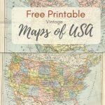 Wonderful Free Printable Vintage Maps To Download   Pillar Box Blue   Vintage Map Printable
