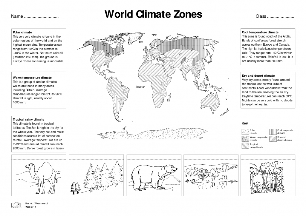World Climate Zones For Kids Worksheets - Google Search | Weather - Free Printable Weather Map Worksheets