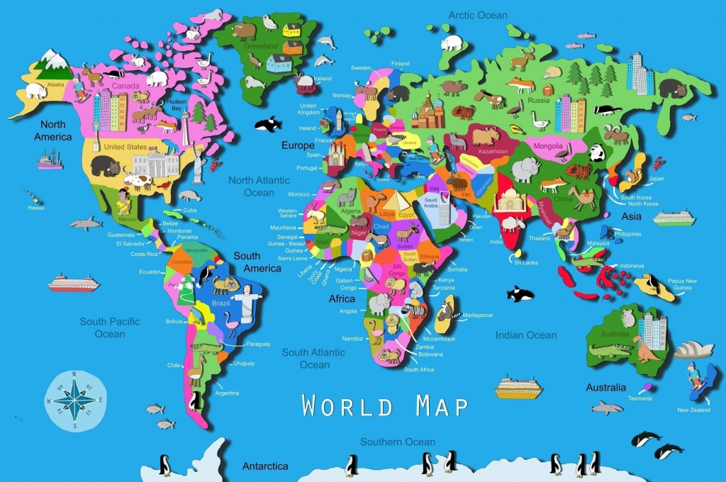 World Map Download Big Size Fresh World Map Kids Printable Valid - Printable World Map With Countries For Kids