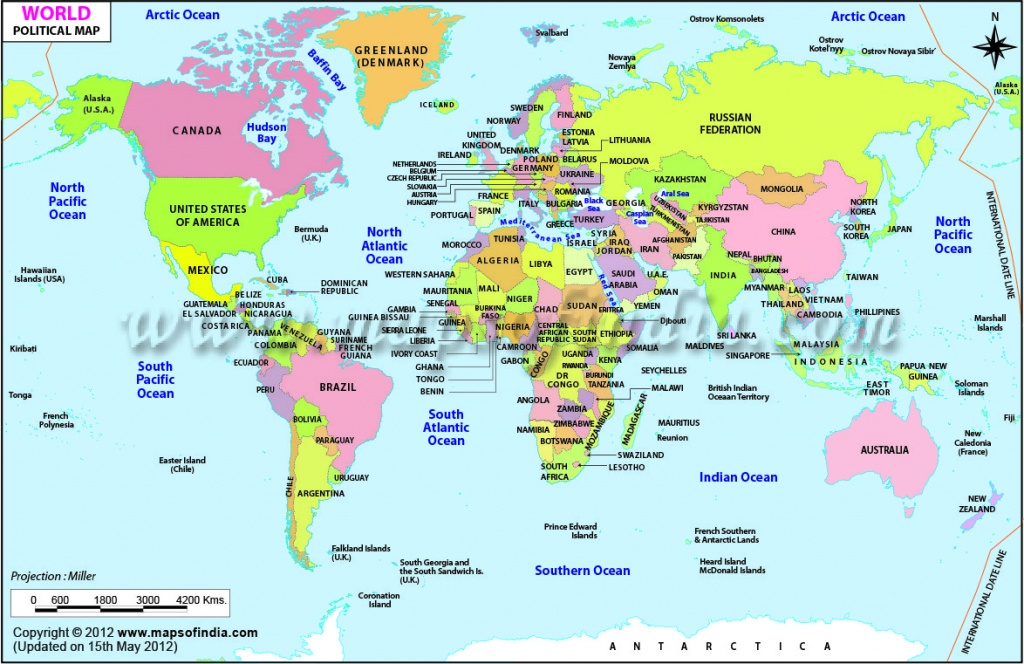 World Map Free Printable With Country Names ~ Cvln Rp - Free Printable Country Maps