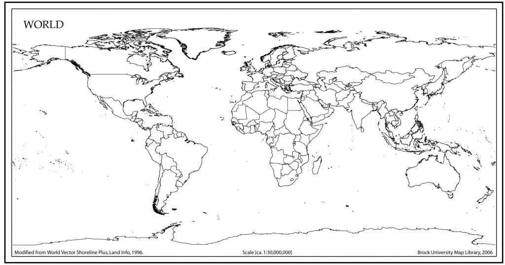 World Map Outline With Countries | World Map | World Map Outline - World Political Map Printable