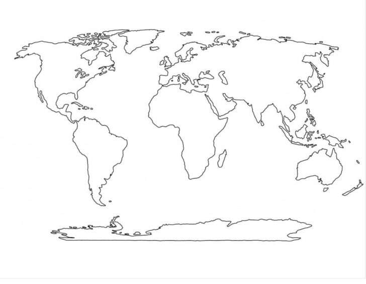 Continents Outline Map Printable