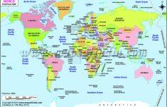 Basic World Map Printable