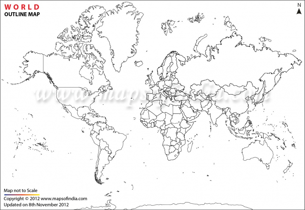 World Map Printable, Printable World Maps In Different Sizes - Physical World Map Outline Printable