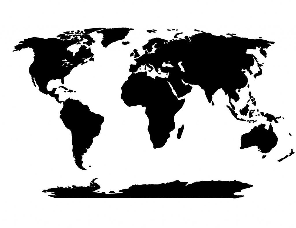 World Map Stencil | Templates | World Map Template, Blank World Map - World Map Stencil Printable