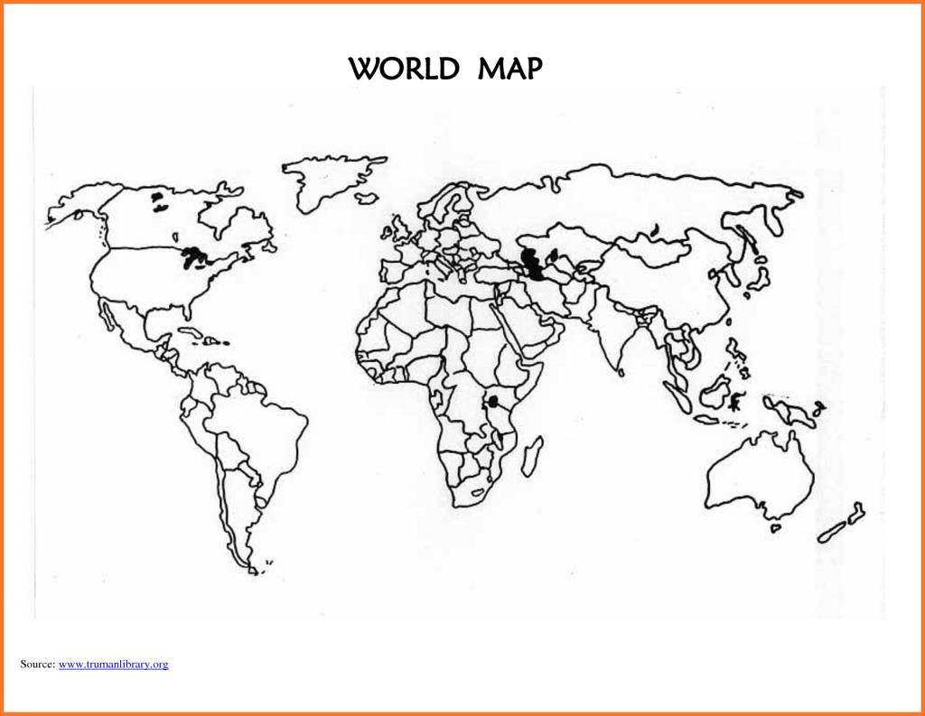 World-Map-Template-Printable-Blank-World-Map-Countries_294994 World - Printable Blank World Map For Kids