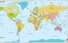 World Map With Capital Cities Printable