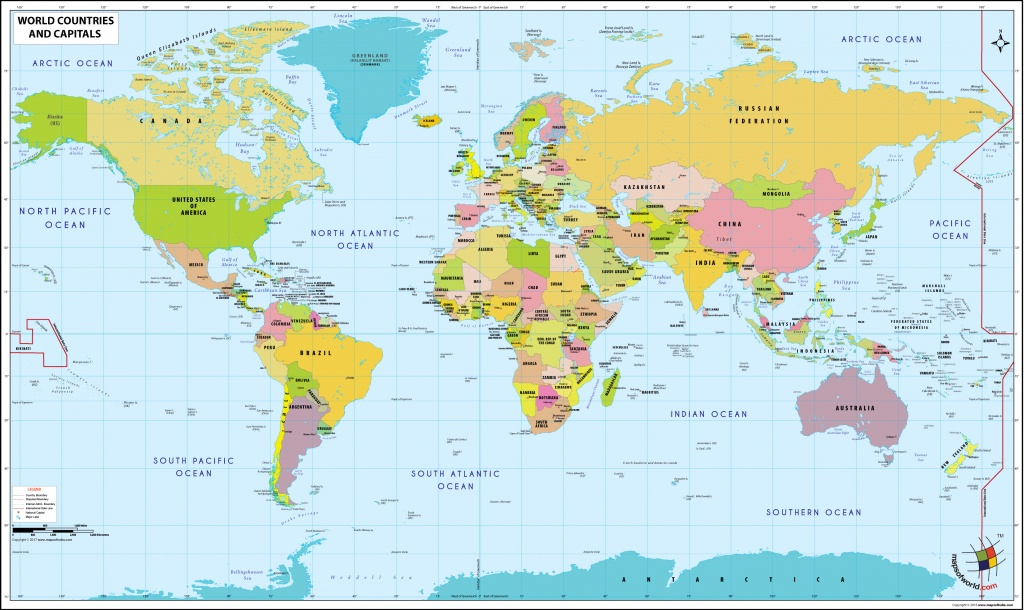 World Map With Countries And Capitals - World Map With Capitals Printable