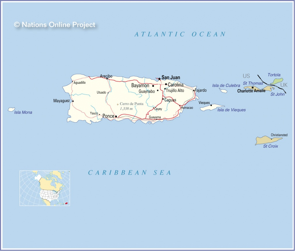 World Maps Puerto Rico And Travel Information   Download Free World - Printable Map Of Puerto Rico For Kids
