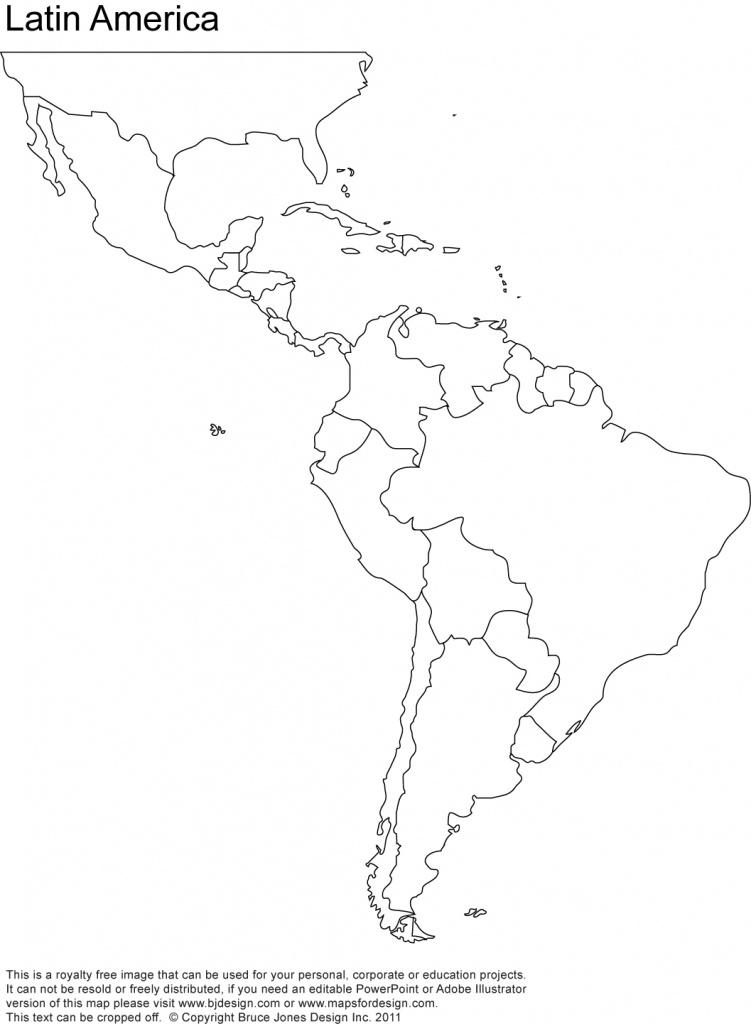 World Regional Printable, Blank Maps • Royalty Free, Jpg - Free Printable Outline Map Of North America