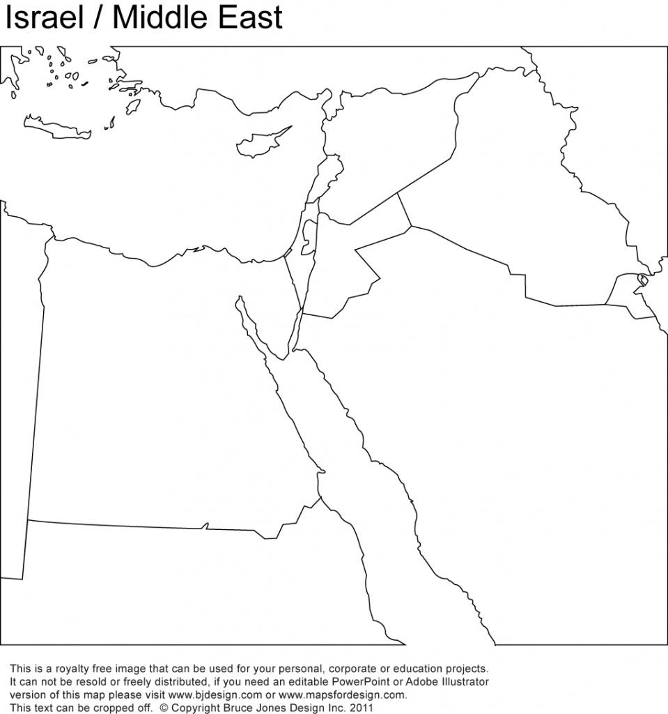 World Regional Printable, Blank Maps • Royalty Free, Jpg - Israel Outline Map Printable