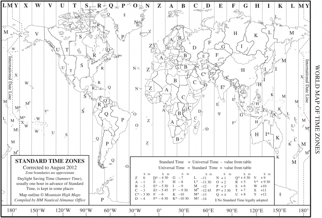 World Time Zone Map As A Printable Pdf. Note That This Is - Printable Time Zone Map For Kids
