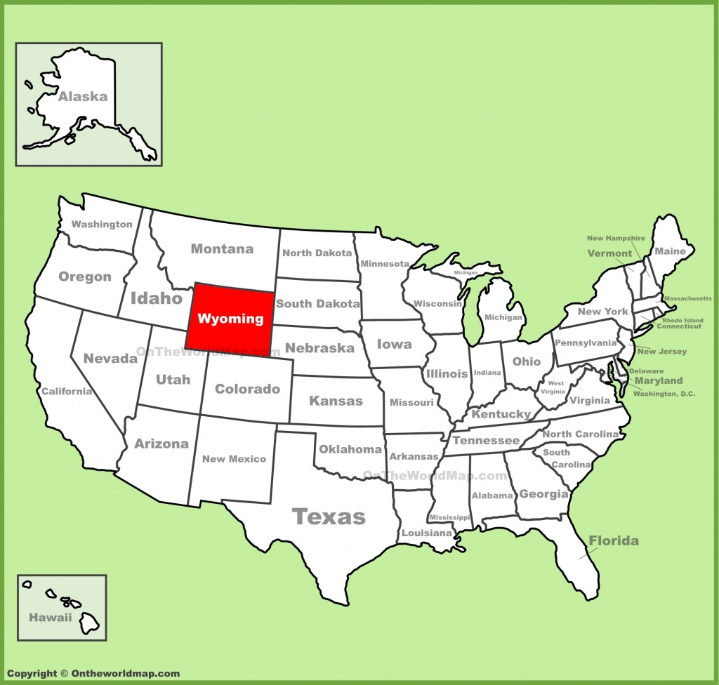 Wyoming State Maps | Usa | Maps Of Wyoming (Wy) - Printable Map Of Wyoming