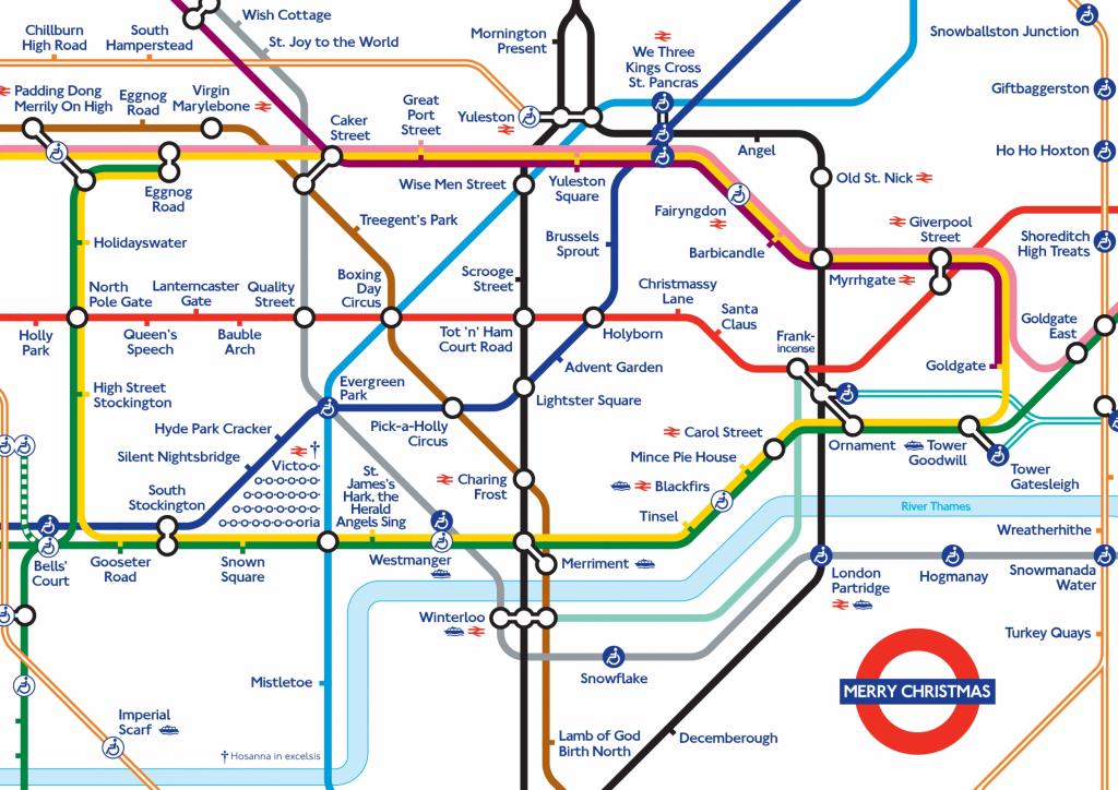 Xmas 20Map Random 2 London Underground Map Printable Throughout - Printable Tube Map