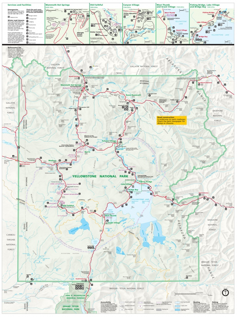 Yellowstone National Park Tourist Map ~ Yellowstone Up Close And - Printable Map Of Yellowstone National Park