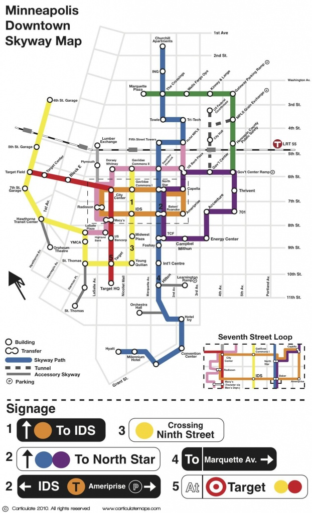 Young Cartographers Develop New Minneapolis Skyway Map   Nice - Minneapolis Skyway Map Printable