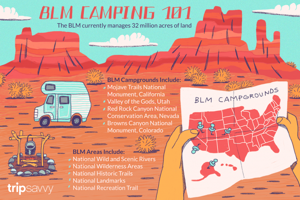 Your Guide To Blm Camping And Recreation - Free Camping California Map