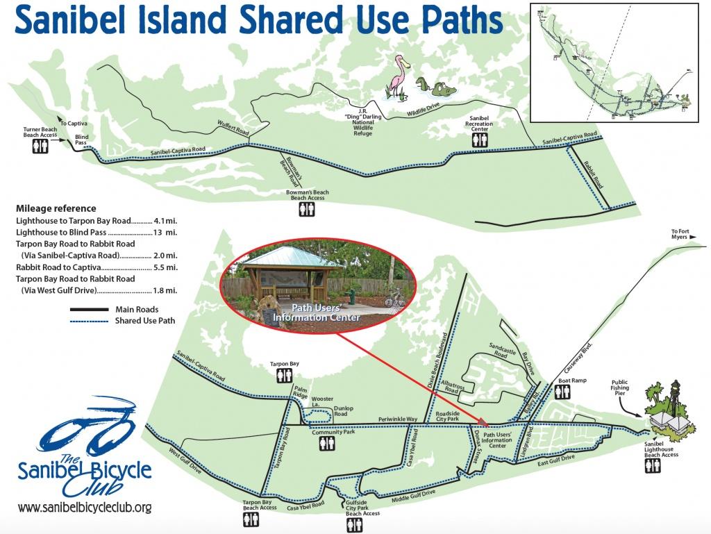Your Guide To Sanibel Biking - Sanibel Island Florida Map