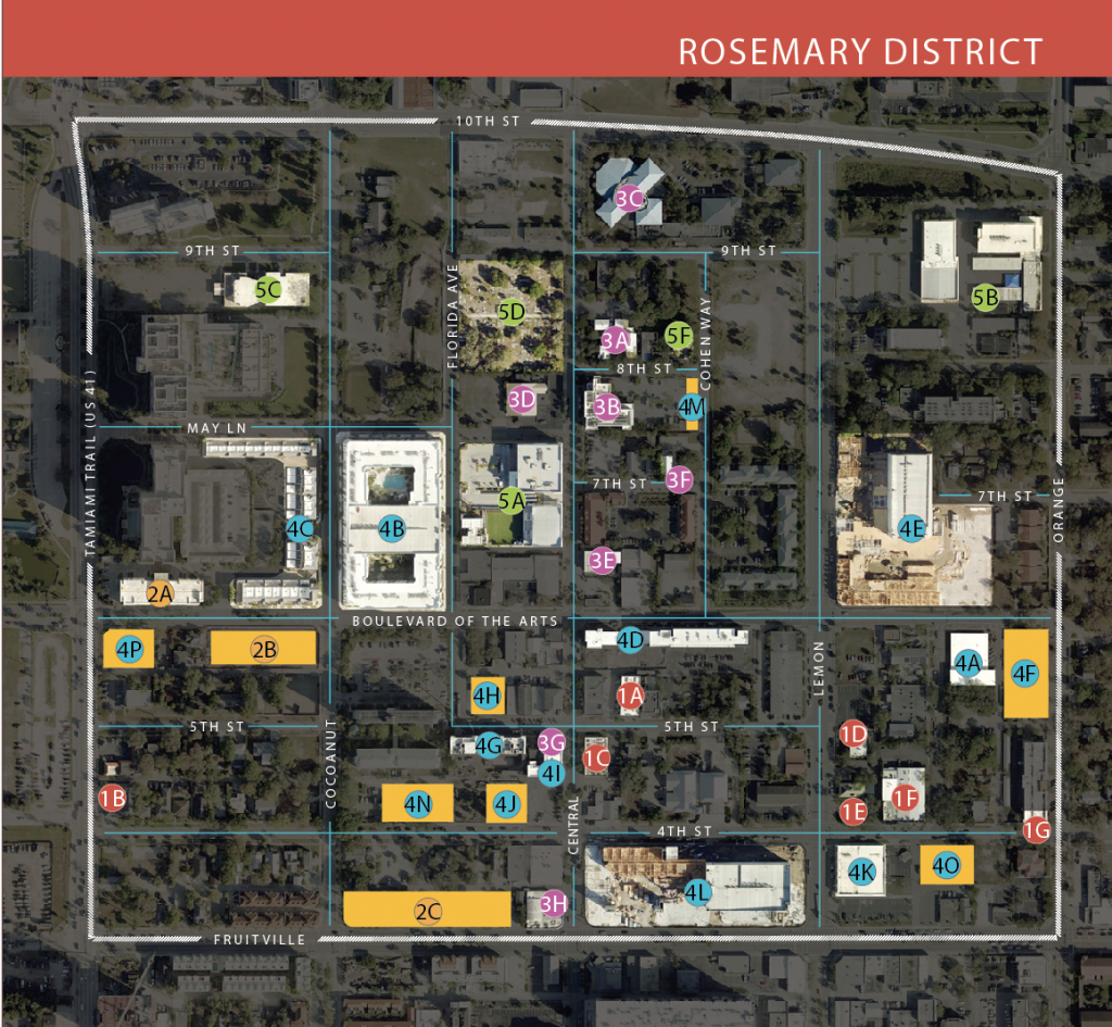 Your Guide To The Rosemary District | Sarasota Magazine - Map Of Hotels In Sarasota Florida