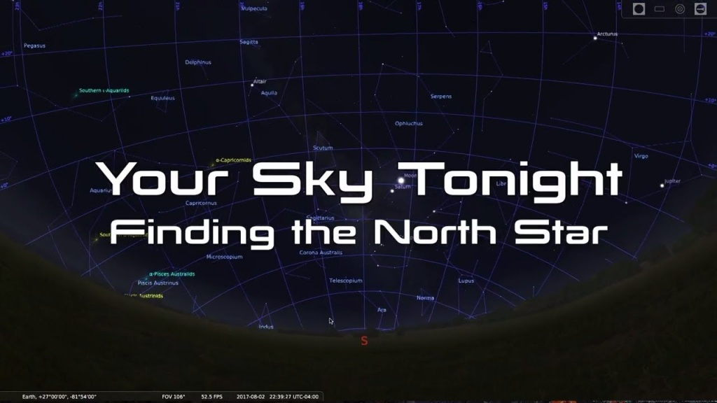 Your Sky Tonight: Easy Way To Find The North Star (Polaris) - Youtube - Florida Night Sky Map